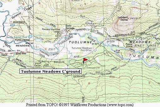 Click on the image at left to see Tuolumne Meadows campground location.
