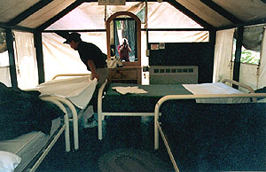 Tent Cabins, Tent Cabins Interior (thatu0027s Me In The Mirror)
